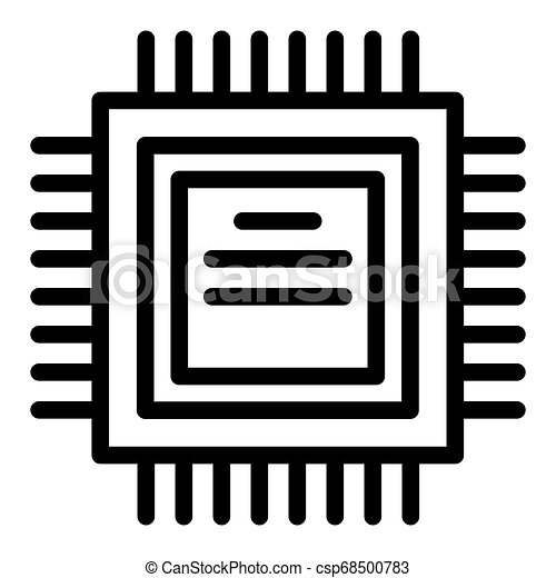 processor line icon cpu vector illustration isolated on white chip outline style design designed for web and app eps 10 https www canstockphoto com processor line icon cpu vector 68500783 html