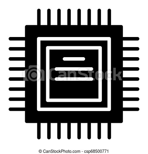 processor solid icon cpu vector illustration isolated on white chip glyph style design designed for web and app eps 10 can stock photo