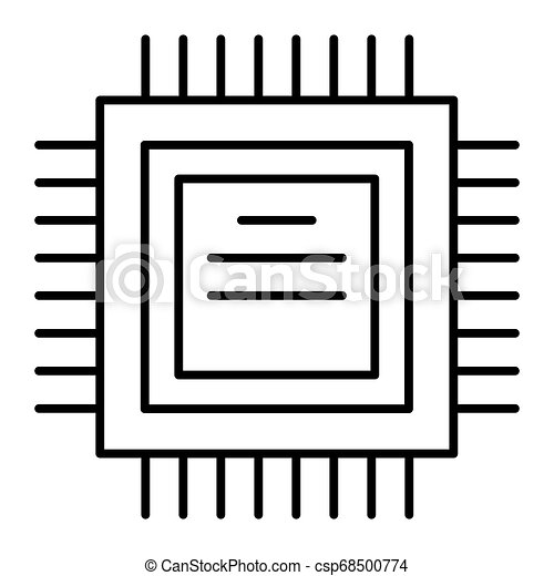 processor thin line icon cpu vector illustration isolated on white chip outline style design designed for web and app eps can stock photo