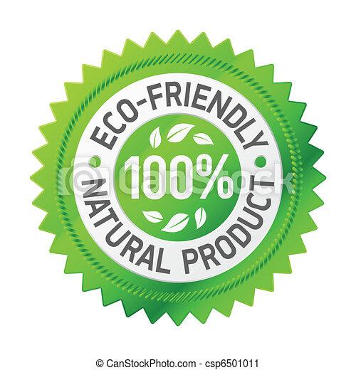 prodotto, eco-amichevole, segno - csp6501011
