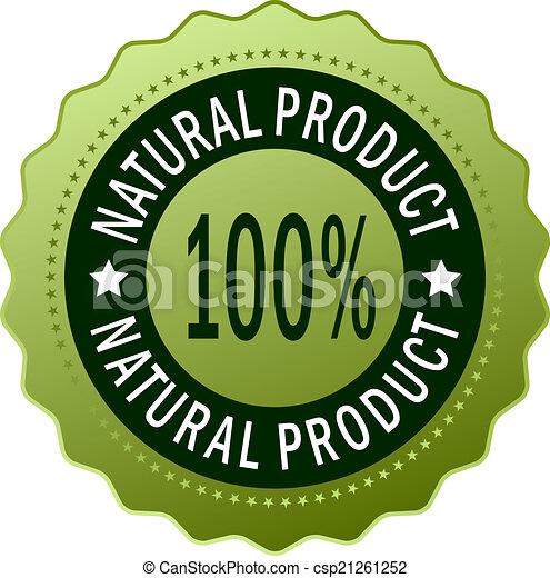 prodotto, naturale, icona - csp21261252