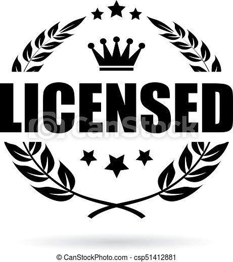 prodotto, vettore, concesso in licenza, icona - csp51412881