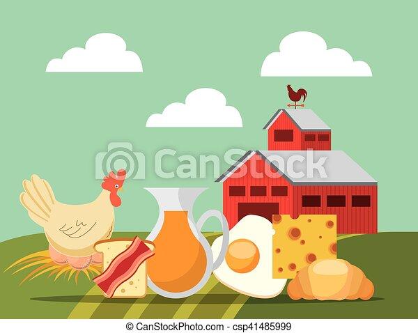 producao, agricultura, paisagem, ícone - csp41485999