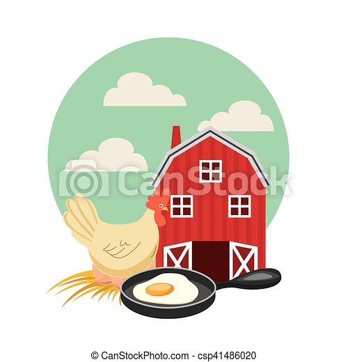 producao, agricultura, paisagem, ícone - csp41486020