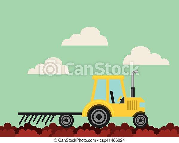producao, agricultura, paisagem, ícone - csp41486024