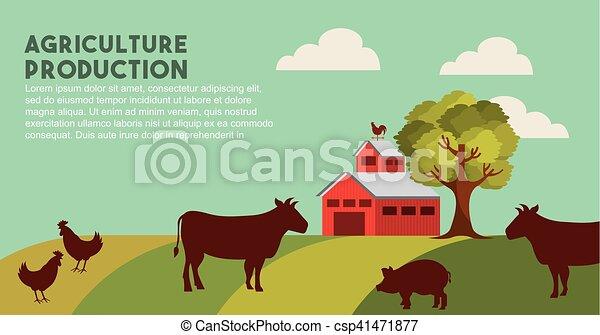 producao, agricultura, paisagem, ícone - csp41471877