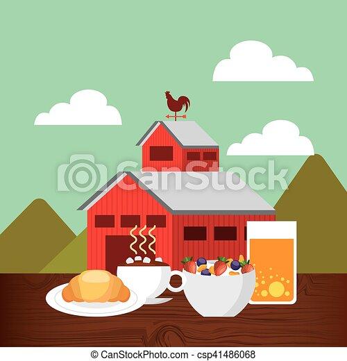 producao, agricultura, paisagem, ícone - csp41486068