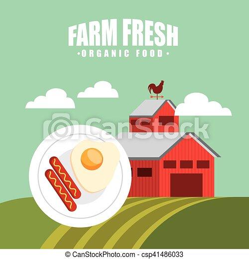producao, agricultura, paisagem, ícone - csp41486033