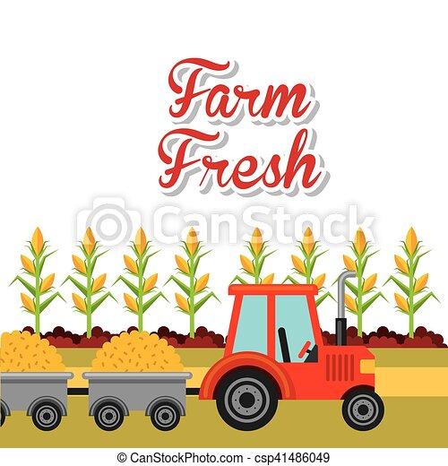 producao, agricultura, paisagem, ícone - csp41486049