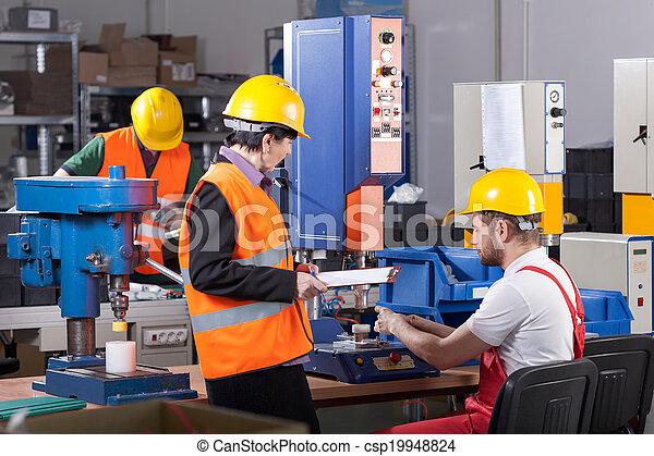 producao, trabalhador, saliência - csp19948824