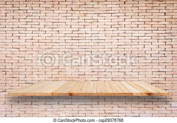Houten Planken Voor Muur.Product Achtergrond Houten Planken Muur Baksteen Display Lege