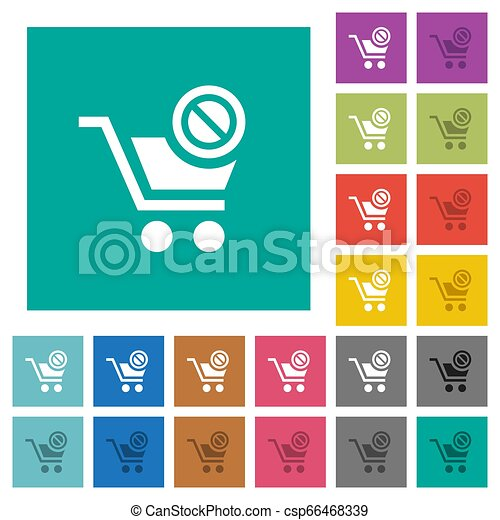 Product not available square flat multi colored icons - csp66468339