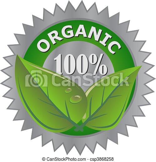 product, organisch, etiket - csp3868258