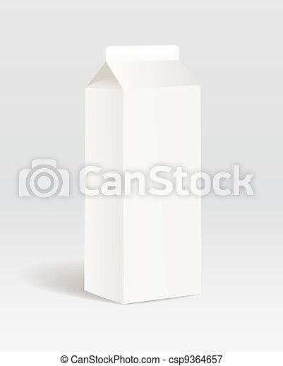 product, papiercontainer, melk - csp9364657