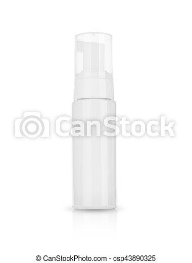 product, room, shampoo., schoonheidsmiddel, achtergrond, schuim, witte  - csp43890325
