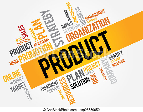 product word cloud business concept