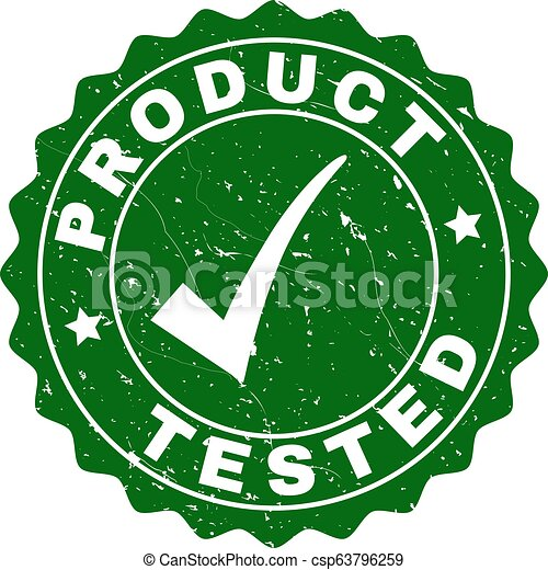 Product Tested Scratched Stamp with Tick - csp63796259