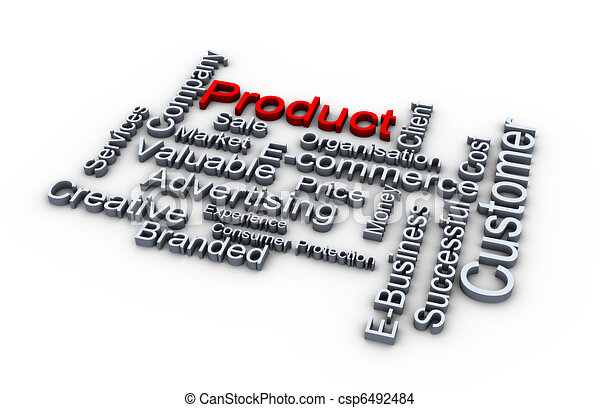Product words cloud - csp6492484