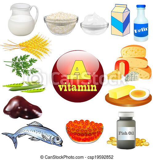 producten, vitamine, dier, plant - csp19592852
