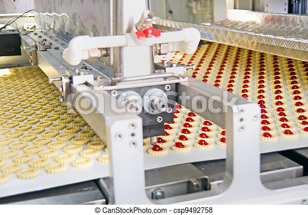 production cookie in factory - csp9492758