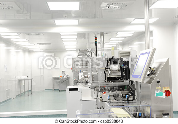 production line in modern factory - csp8338843