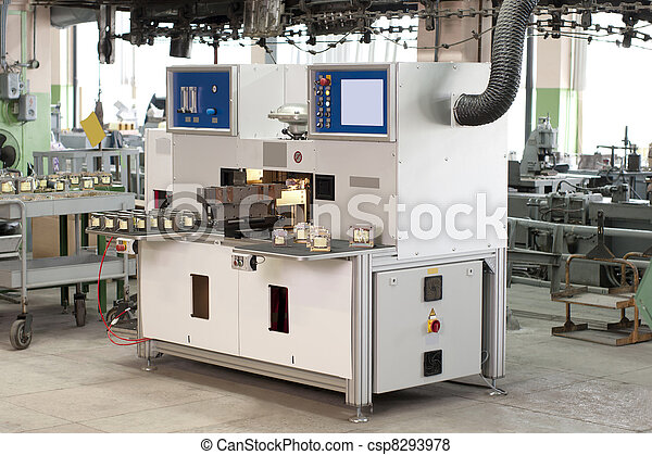 production machine in the shop during - csp8293978