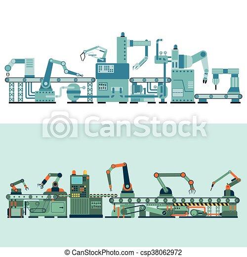 Production transporter vector illustration. - csp38062972