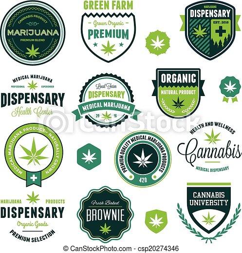 Etiquetas de productos de marihuana - csp20274346