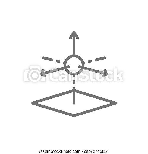Modelo 3D, icono de modelo tridimensional. - csp72745851