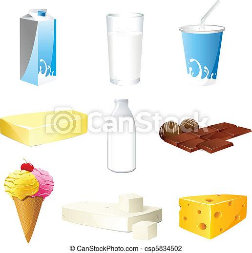 Producto lácteo - csp5834502