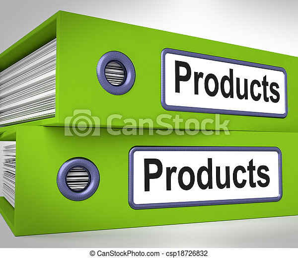 Products Folders Mean Goods And Merchandise For Sale - csp18726832