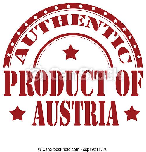 Produkt Austria Stamp Briefmarke Text Abbildung Gummi