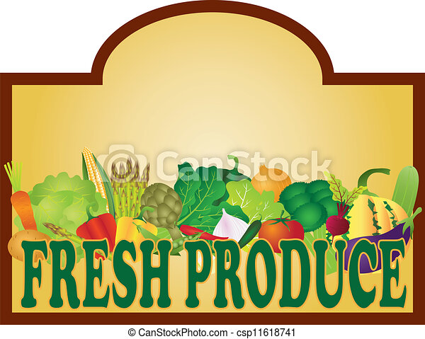 produto fresco, ilustração, signage - csp11618741