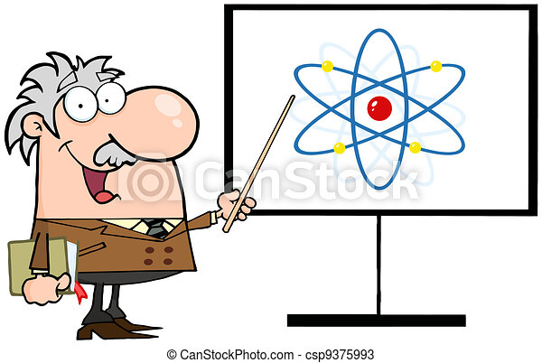 prof, atome, pointage, signe - csp9375993
