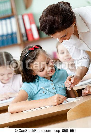 prof, tâche, élèves, aides - csp10581551