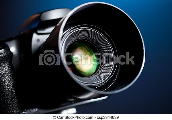 profesional, cámara, dslr - csp3344839
