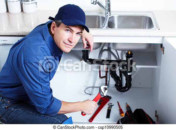 profesional, plumber. - csp10990505