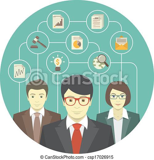 Trabajo en equipo de profesionales - csp17026915