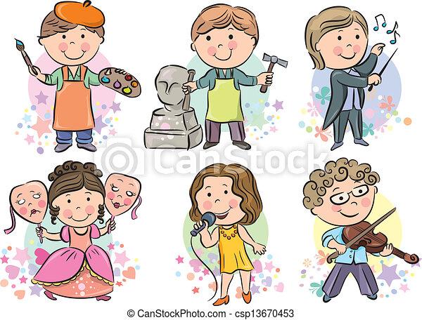 Los niños de las profesiones son el 2 - csp13670453