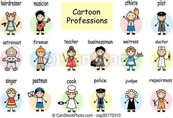 Profesiones de dibujos animados - csp30770310