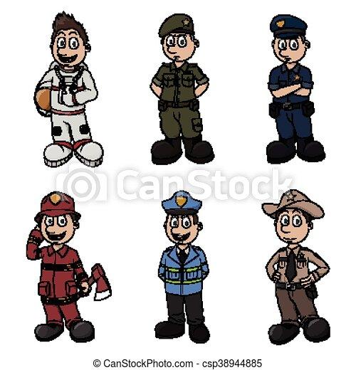 profession illustration design - csp38944885