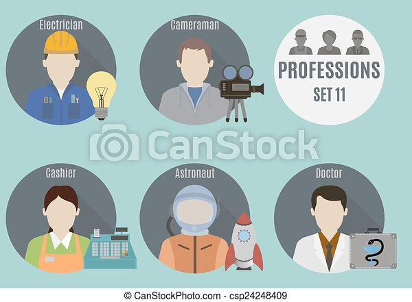 Profession people. Set 11 - csp24248409