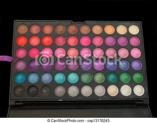 professiona make-up eye shadows palette isolated - csp13176243