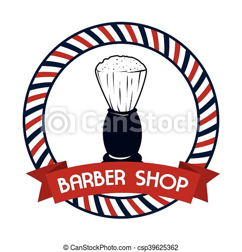 professional barber shop icon vector illustration graphic clip art rh canstockphoto com barber shop clip art images barber shop pole clipart