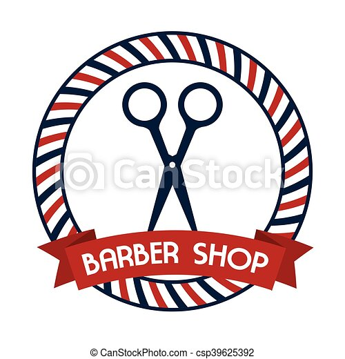 professional barber shop icon vector illustration graphic eps rh canstockphoto com barber shop clip art images barber shop clipart free