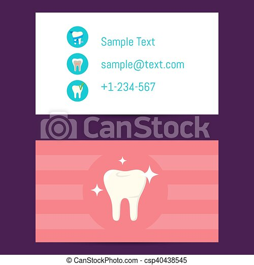 Professional business card for dentists professional business card professional business card for dentists csp40438545 reheart Choice Image