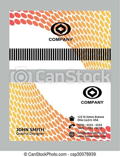 Professional business card template vectors search clip art professional business card template csp30078939 flashek Gallery