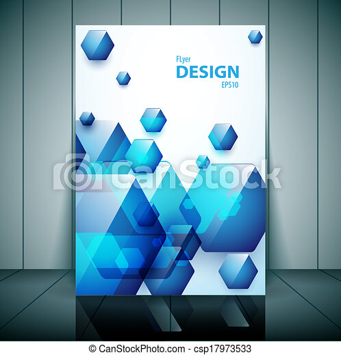 professional business flyer brochure or cover design for publishing