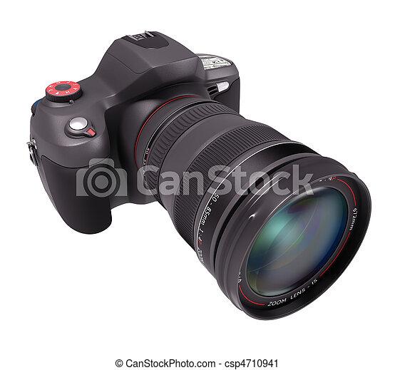Professional Camera Over White - csp4710941
