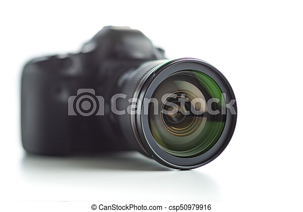 Professional camera with lens. - csp50979916